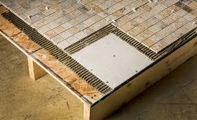 Floor Tile Installers Tile Installers Select Hardiebacker Cement Board As Most