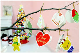 moon festival decorations christmas greeting blessing paper card hanging in christmas tree