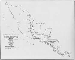 Central America And Caribbean Blank Map by Inter American Highway Wikipedia