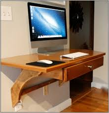 Computer Wall Desk Wonderful Wall Mounted Desk Ideas Alluring Home Design Inspiration