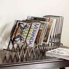 decoration ideas beautiful rusted metal style magazine racks in