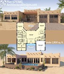 adobe southwestern style house plan 3 beds 300 baths 5913 sq