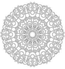 coloring book circular pattern mandala vector image