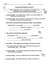 numeration worksheets free worksheets library download and print