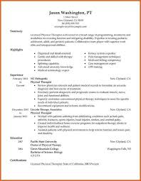 Sample Resume For Occupational Therapist by Pta Resume Resume Cv Cover Letter