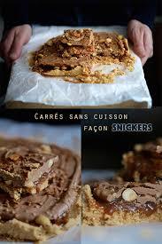 cuisine sans cuisson carrés sans cuisson façon snickers cuisson carrés et en