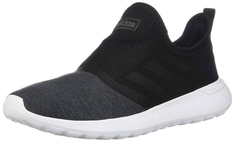Adidas Cloudfoam Lite Racer Slip On Walking Tennis Shoes (Black/White, 9.5)