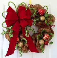 how to make a christmas wreath bow christmas gift ideas