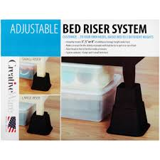 how to raise a bed creativeware adjustable bed riser system walmart com
