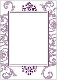 Blank Wedding Invitations Blank Wedding Invitations 4 Blank Purple Invitations 15122