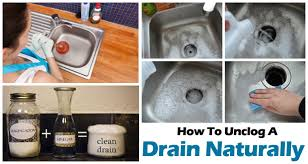 How To Unclog Kitchen Sink With Garbage Disposal by How To Unclog A Drain Naturally Surprise Result