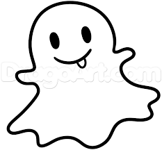 how to draw the snapchat ghost step by step symbols pop culture