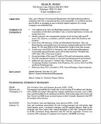 Marketing Resume Objective Examples by Resume Template Marketing Objectives Resume Example With