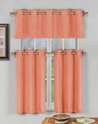 Blackout Kitchen Curtains Rugs Curtains 3 Coral Blackout Kitchen Curtains For