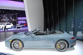porsche graphite blue gt3 detroit 2016 porsche 911 carrera s cabriolet gtspirit