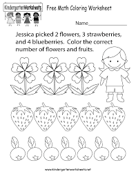 Worksheets For Math Free Printable Math Coloring Worksheet For Kindergarten