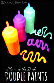glow in paint glow in the doodle paint recipe growing a jeweled