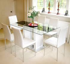 6 Seater Oval Glass Dining Table Glass Dining Table With White Chairs 11 With Glass Dining Table
