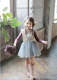 2017 girls lace bows suspender dresses spring new brand kids