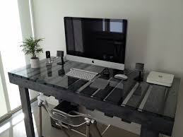 Diy Pallet Computer Desk Picture Charming Retro Home Office by