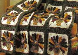 free crochet thanksgiving turkey afghan