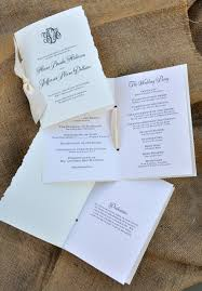customizing your wedding programs u2013 wiregrass weddings