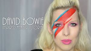 david bowie inspired aladdin sane makeup tutorial youtube