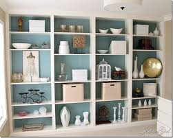 Ikea Low Bookshelf Den Project Built In Billy Bookcase Ideas Blue Walls Walls And