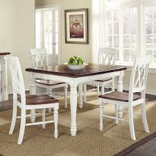 5 pc dining table set home styles monarch 5 piece dining table with 4 double x back chairs
