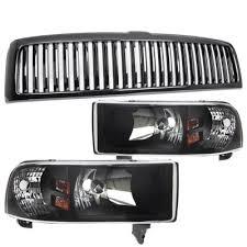 2001 dodge ram headlights dodge ram 1994 2001 black vertical grille and headlights set