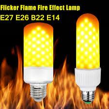 why led light bulbs flicker e26 e27 b22 e14 led corn light bulb flicker flame fire effect l