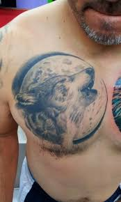 collection of 25 tribal moon wolf howl on biceps