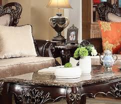victorian marble top end table victorian marble top end table in carved dark brown birch wood