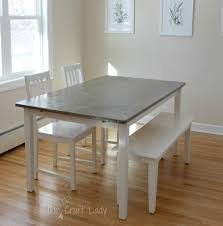 ikea dining room diy concrete dining table top and dining set makeover the crazy