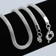 chunky necklace charms images 925 silver mesh tube charm choker necklace a3 20 labone market jpg