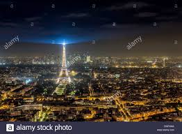 eiffel tower light show eiffel tower light show at night in paris france stock photo
