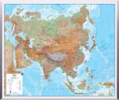 Map Of Asia by Maps International Physical Map Of Asia Regio