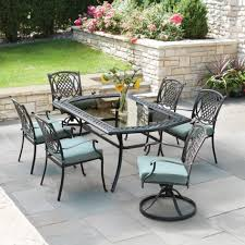 Mainstays Searcy Lane 6 Piece Padded Folding Patio Dining Set - walmart patio dining sets patio outdoor decoration