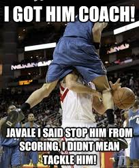 Javale Mcgee Memes - i got him coach javale i said stop him from scoring i didnt mean