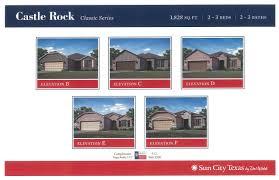 Castle Rock Floor Plans by New Sun City Texas 2015 U201cclassic Series U201d Models About T