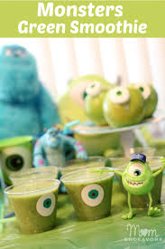 mike wazowski monsters green smoothie