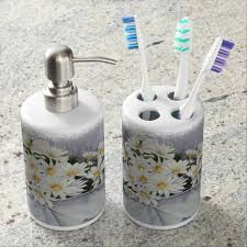 White Bathroom Accessories Ceramic by Black And White Ceramic Bathroom Soap Lotion Toothbrush Set Ebay