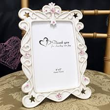 photo frame party favors pink stones cross design photo frame favor or