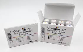 chefmaster liqua gel paste food color 70oz u2013 8 color kit cake
