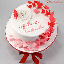 create a cake online for birthday create happy birthday cake with