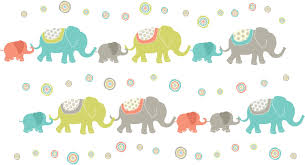 Elephant Wall Decals For Nursery by Along Elephant Wall Art Sticker Kit