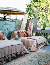 a coral california bungalow bohemian patio spanish style and