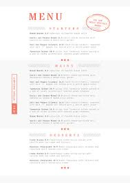 dining menu template orange and grey food dining menu template