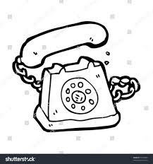 quirky drawing retro telephone stock vector 51969940 shutterstock