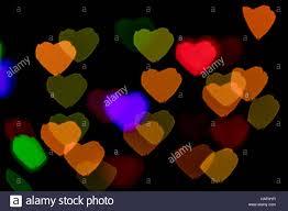bokeh vague colorful shaped scattered celebration lights on